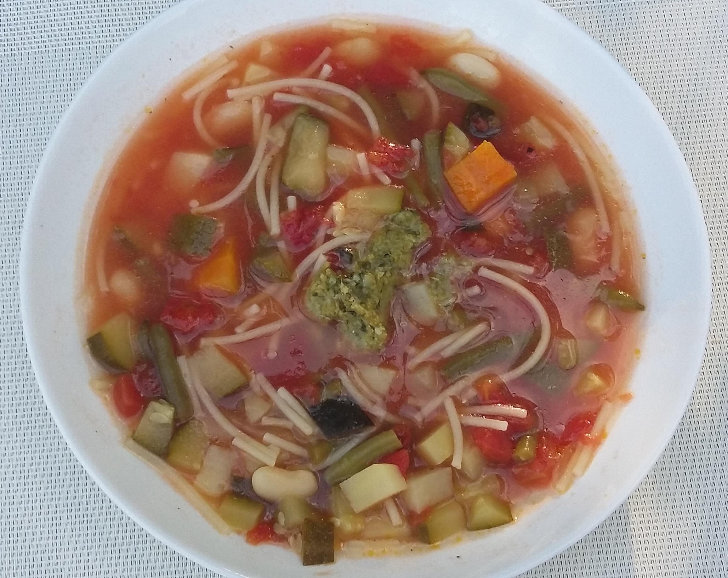 Soupe au pistou niçoise