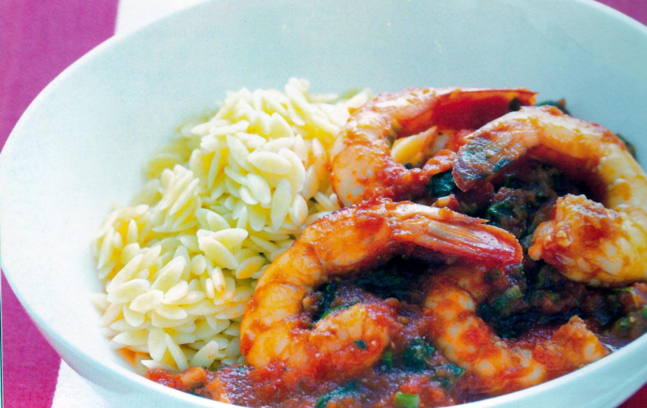 crevettes-tomate-origan-riz-complet-de-camargue