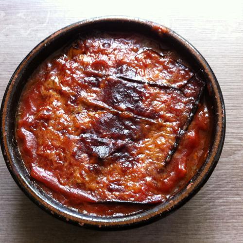Aubergines alla parmiggiana sans friture